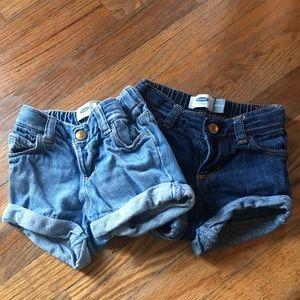 Set of 2– Old Navy Jean shorts